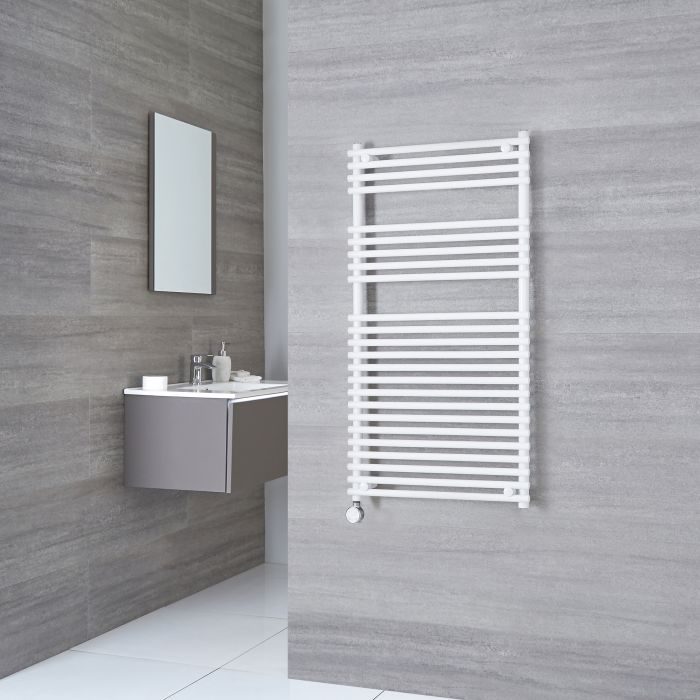 Kudox Electric - Flat White Bar on Bar Towel Rail 1150mm x 450mm