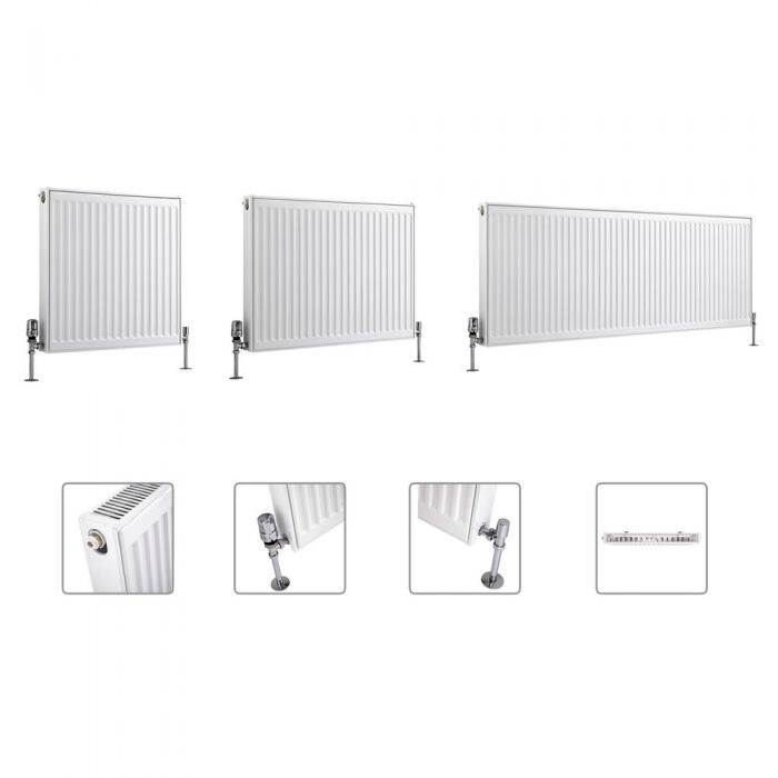 Milano Compact - Type 11 - Single Panel Radiator - Multi Sizes Available