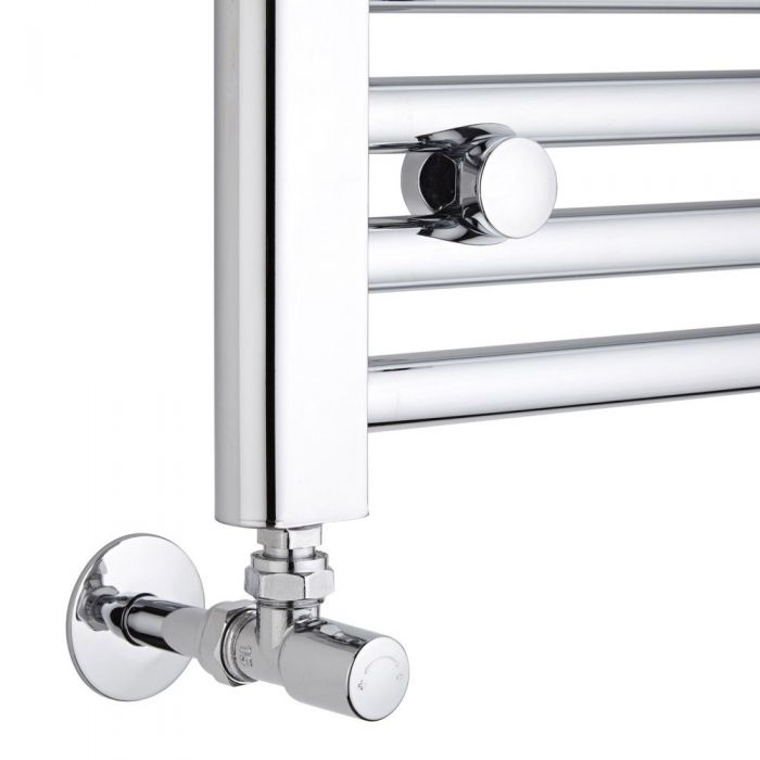 Milano - Chrome Angled Radiator Valves (Pair)