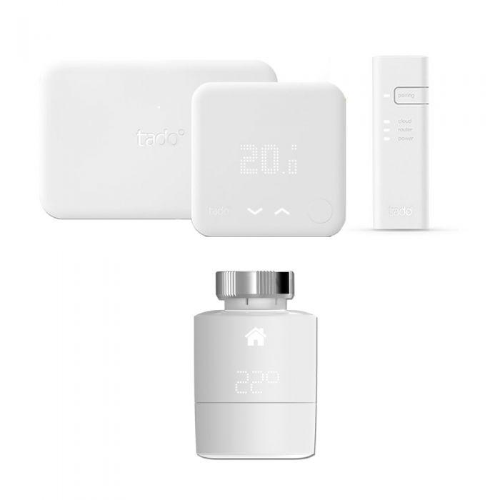 Tado° - Smart Thermostat Starter Kit (v3) & Extension Kit & Horizontal Smart Valve