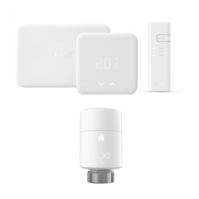 Tado° - Smart Thermostat Starter Kit (v3) & Extension Kit & Vertical Smart Valve