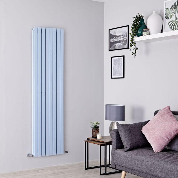 Milano Capri - Baby Blue Flat Panel Vertical Designer Radiator - 1780mm x 472mm (Double Panel)