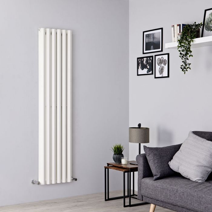 Milano Viti - White Vertical Diamond Double Panel Designer Radiator 1780mm x 420mm