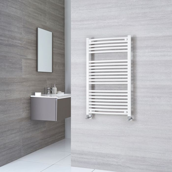 Sterling - Premium White Curved Heated Towel Rail 1000mm x 600mm