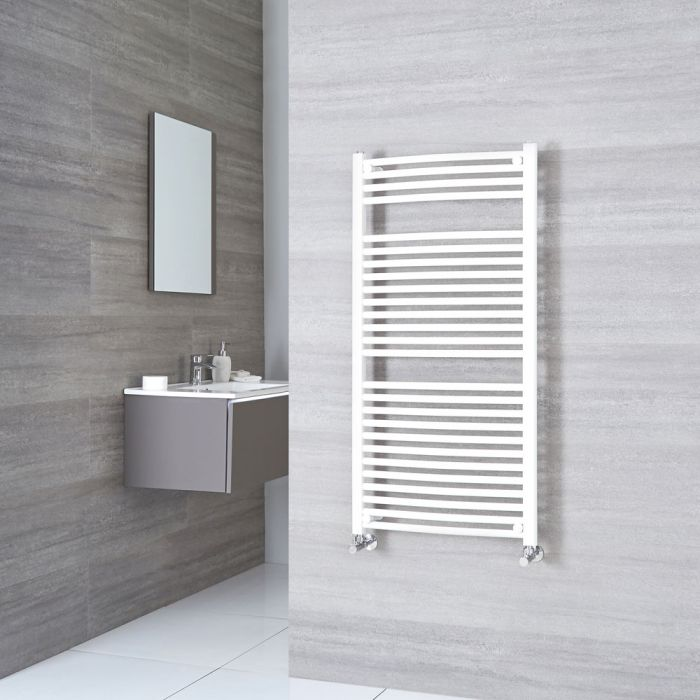 Sterling - Premium White Curved Heated Towel Rail 1200mm x 600mm
