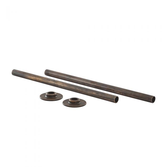 Milano – Cast Iron Radiator Pipe and Blanking Plug Set - Bronze