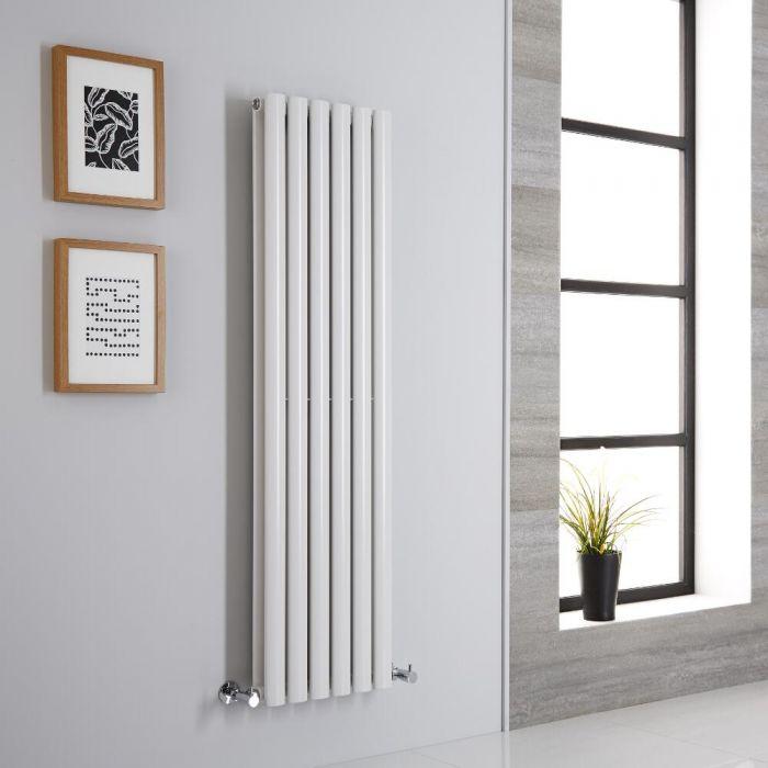 Milano Aruba Aiko - Modern White Vertical Designer Radiator 1400mm x 354mm (Double Panel)
