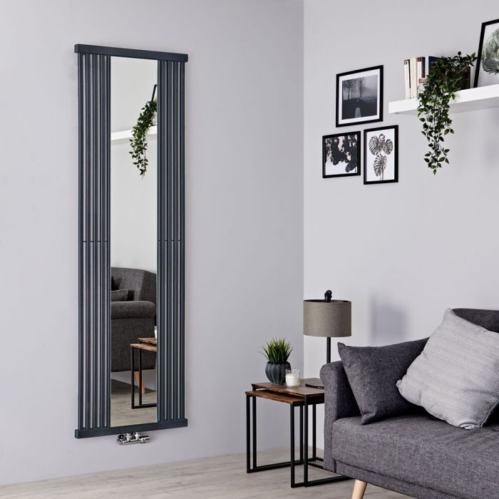 Terma Intra - Stone Vertical Designer Radiator With Mirror 1900mm x 640mm
