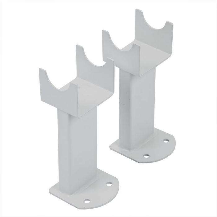 Milano - White Floor-Mounting Feet for Aruba, Capri & Java Designer Radiators