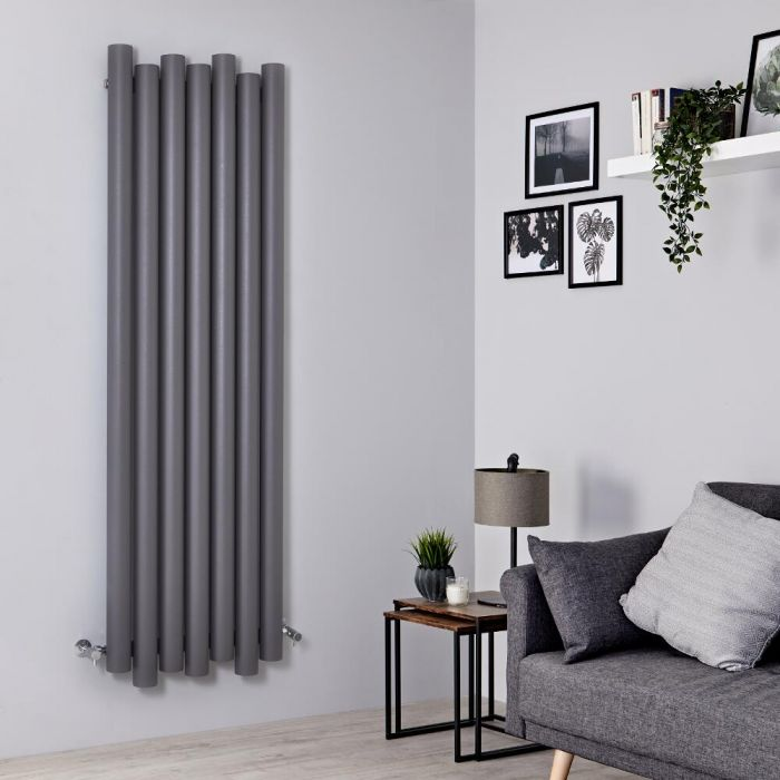 Milano Motus - Light Grey Vertical Aluminium Designer Radiator 1800mm x 550mm