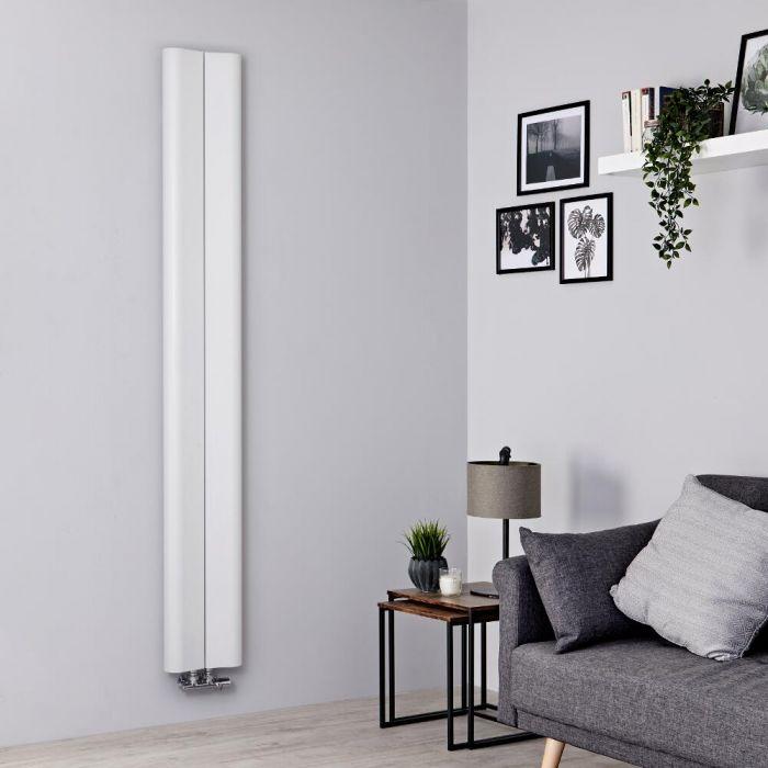 Milano Solis - White Vertical Aluminium Designer Radiator 1800mm x 245mm