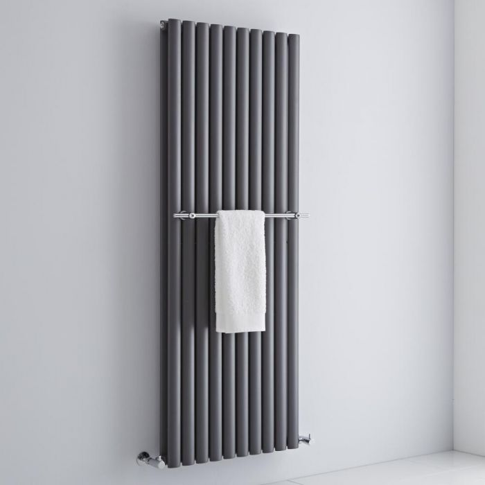 Milano - Chrome Towel Rail for Aruba Vertical Designer Radiator 590mm