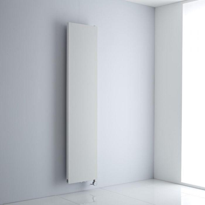 Milano Riso Electric - White Flat Panel Vertical Designer Radiator 1820mm x 400mm