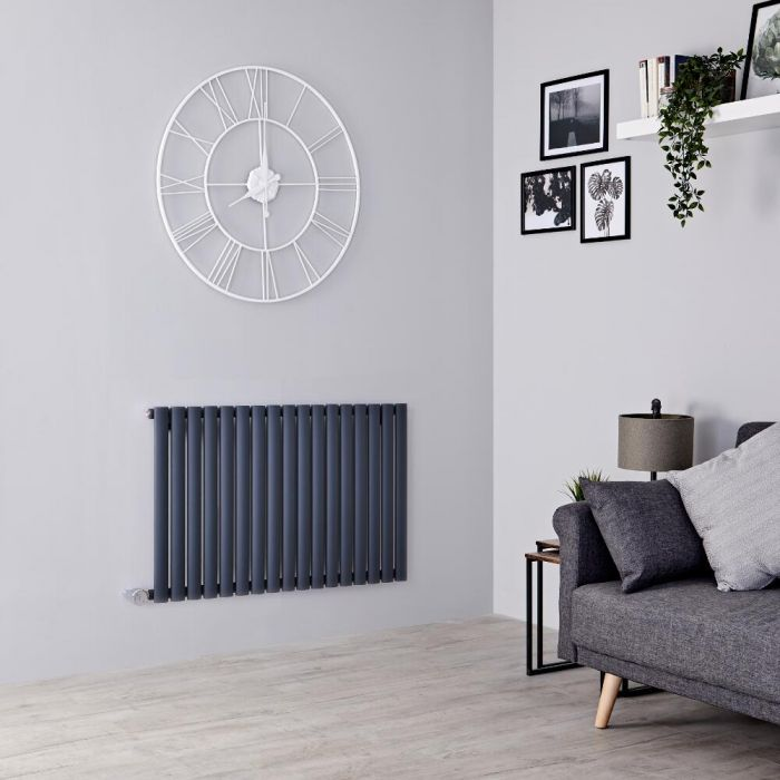 Milano Aruba Electric - Anthracite Horizontal Designer Radiator 635mm x 1000mm