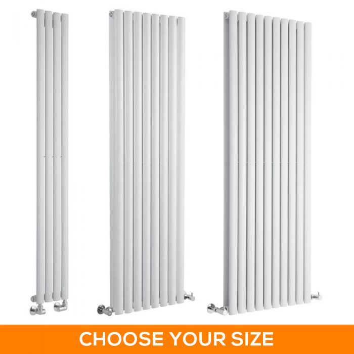 Milano Aruba - White Vertical Designer Radiator - Various Sizes