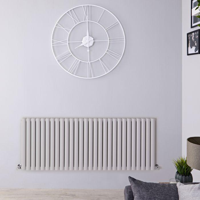 Milano Aruba - Light Grey Horizontal Designer Radiator 635mm x 1647mm (Double Panel)