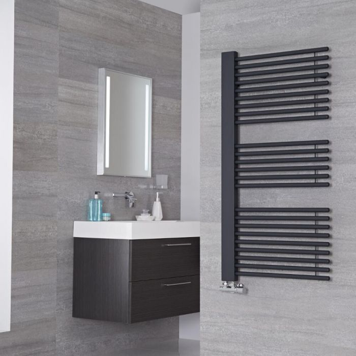 Lazzarini Way - Grado - Anthracite Designer Heated Towel Rail - 1190mm x 600mm