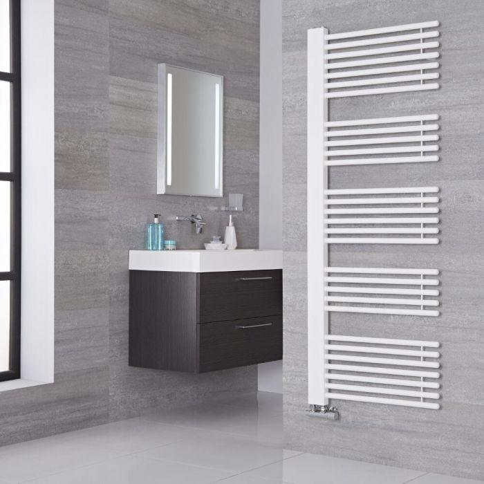 Lazzarini Way - Grado - Mineral White Designer Heated Towel Rail - 1600mm x 600mm