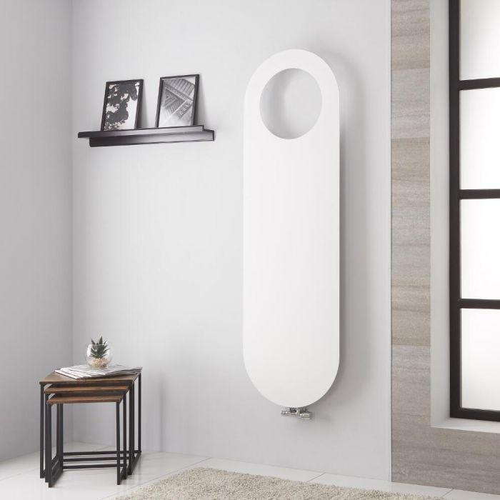 Lazzarini Way - Vulcano - Mineral White Vertical Designer Radiator - 1595mm x 490mm
