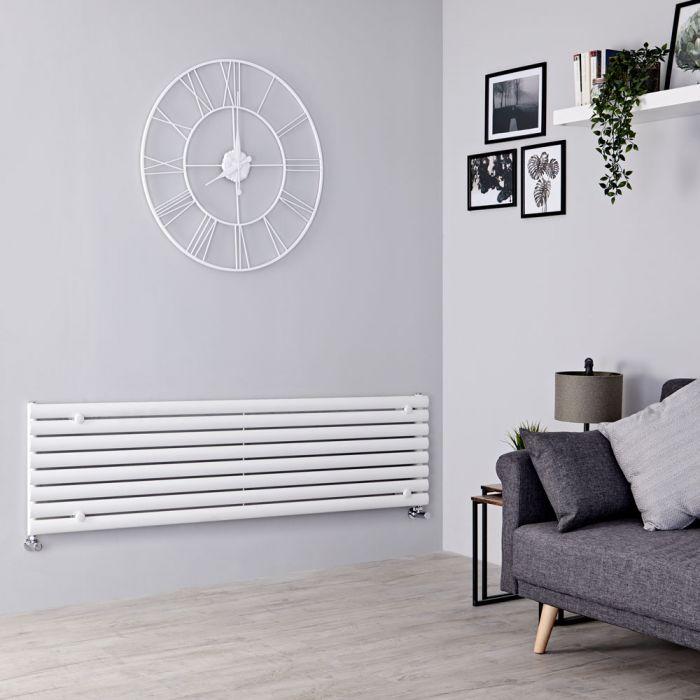 Milano Aruba - White Horizontal Designer Radiator 472mm x 1600mm