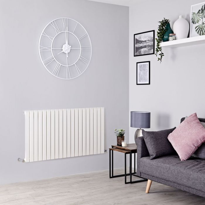 Milano Capri - White Horizontal Flat Panel Designer Radiator 635mm x 834mm
