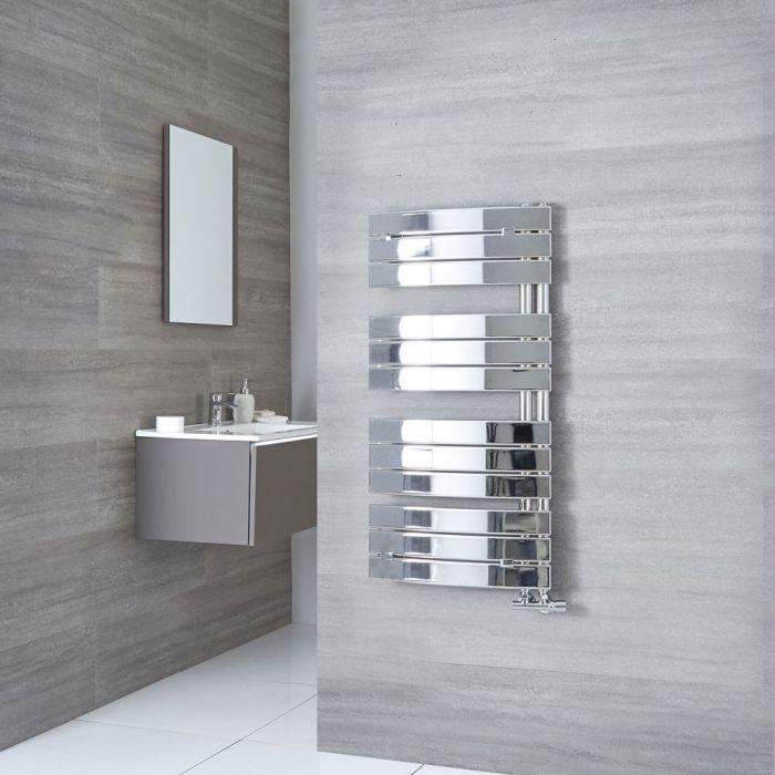 Milano Azore - Chrome Curved Heated Towel Rail 1080mm x 550mm