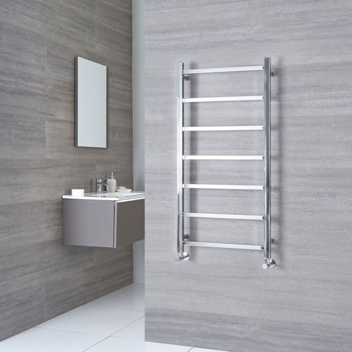 Milano Select - Chrome Designer Heated Towel Rail 1200mm x 600mm