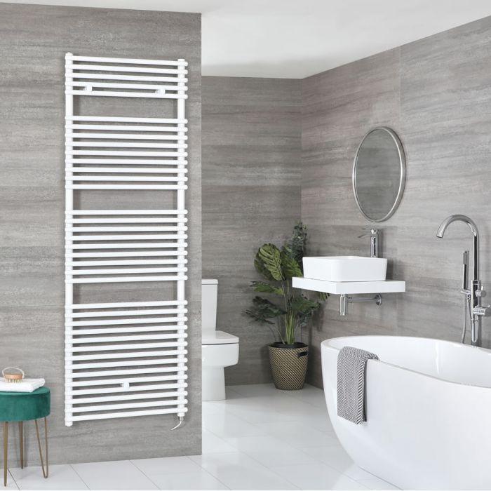 Milano Arno Electric - White Bar on Bar Heated Towel Rail 1738mm x 450mm