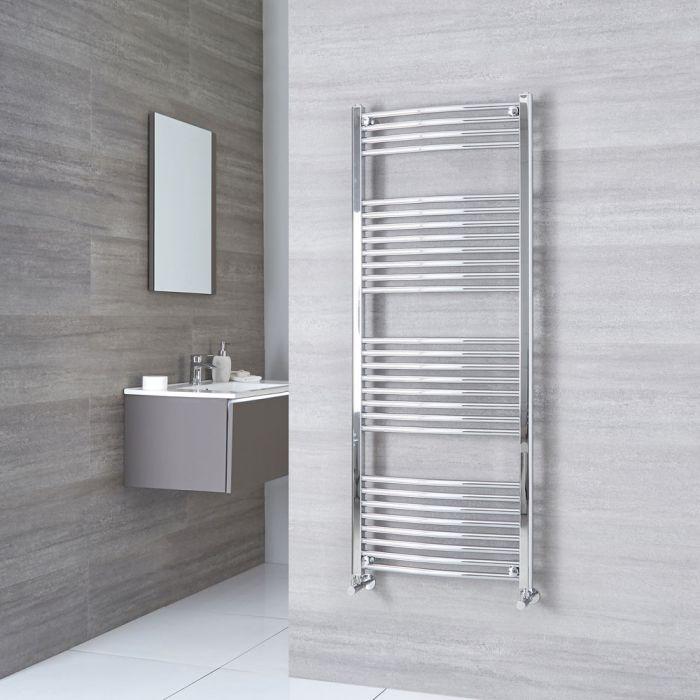Milano Ribble - Curved Chrome Heated Towel Rail 1500mm x 600mm