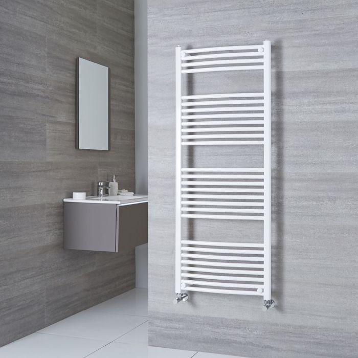 Milano Calder - Curved White Heated Towel Rail 1500mm x 600mm