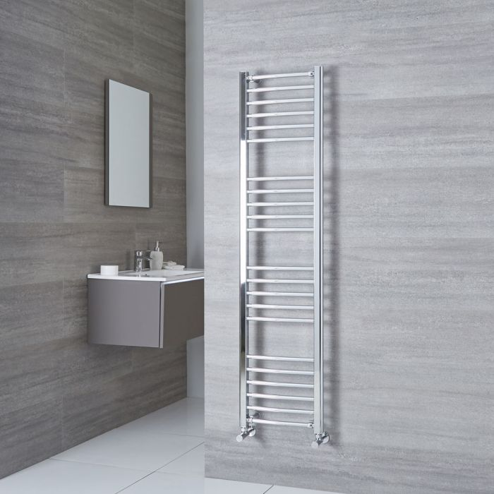 Milano Eco - Curved Chrome Heated Towel Rail 1600mm x 400mm