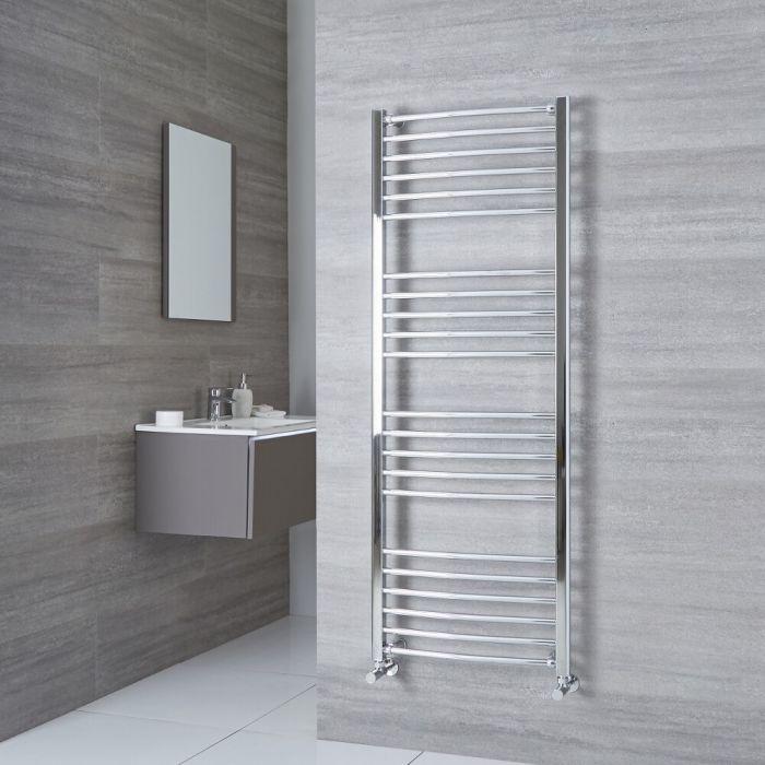 Milano Eco - Curved Chrome Heated Towel Rail 1600mm x 500mm