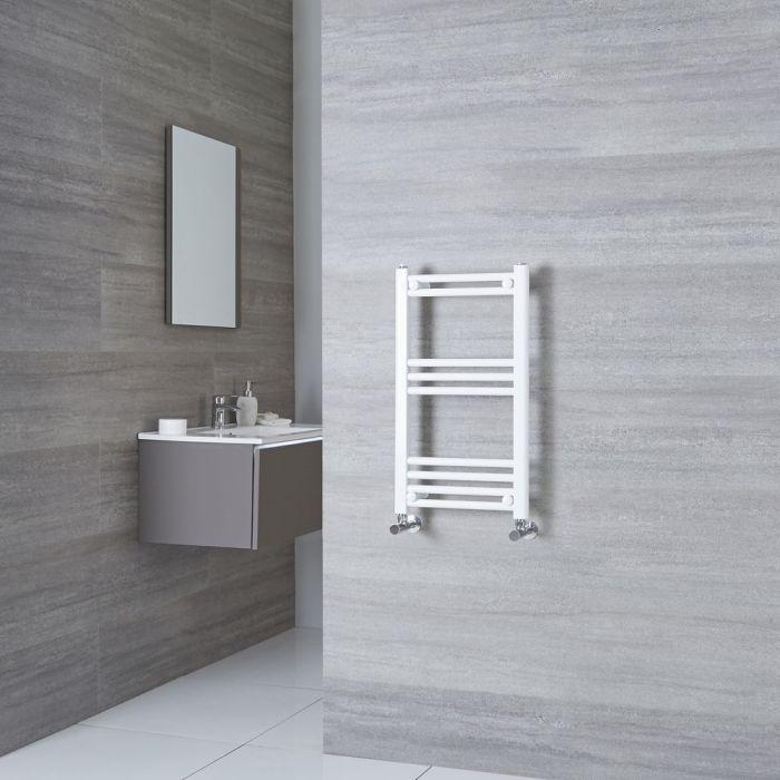 Milano Calder - Flat White Heated Towel Rail 700mm x 400mm