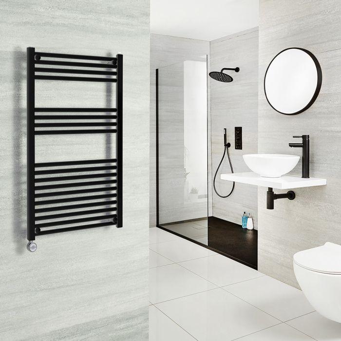 Milano Nero Electric - Black Heated Towel Rail 1000mm x 500mm