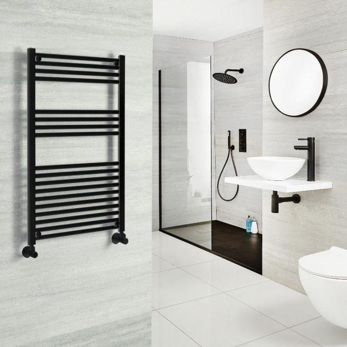 Milano Nero - Black Heated Towel Rail 1000mm x 600mm