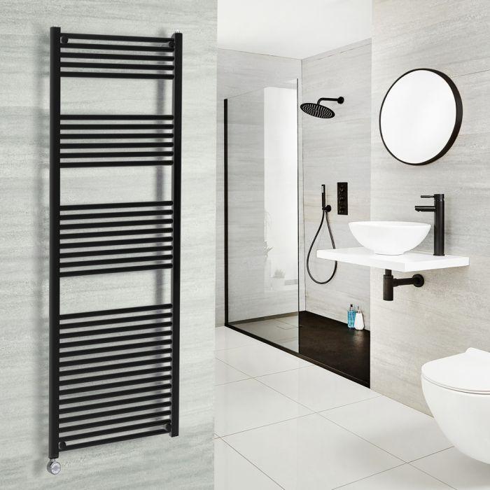 Milano Nero Electric - Black Heated Towel Rail 1500mm x 600mm