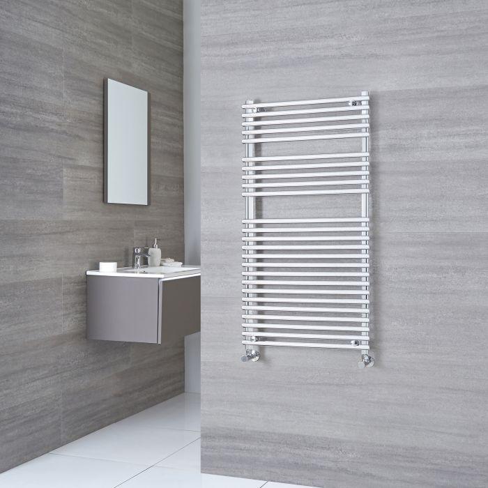 Kudox - Flat Chrome Bar on Bar Towel Rail 1150mm x 600mm