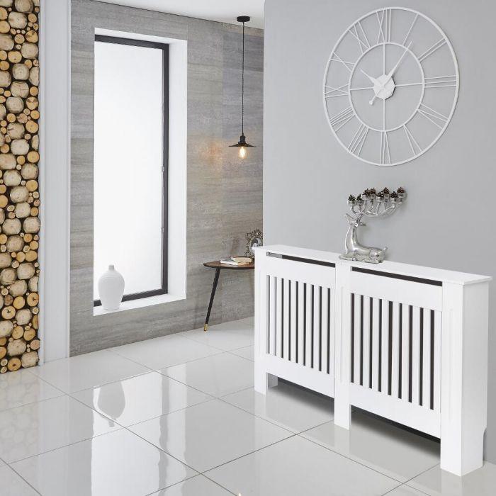 Milano Ealing  - White Horizontal Radiator Cabinet - 815mm x 1520mm