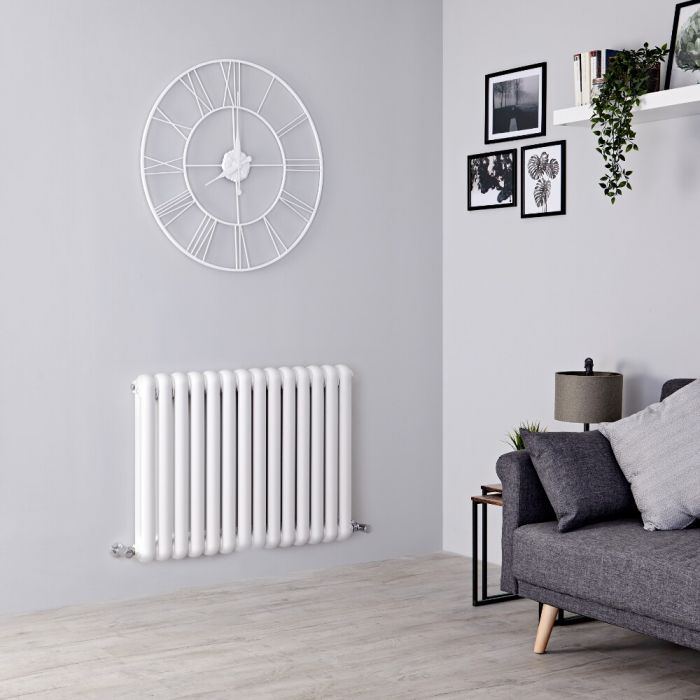 Milano Urban - White Horizontal Double Column Radiator 635mm x 863mm
