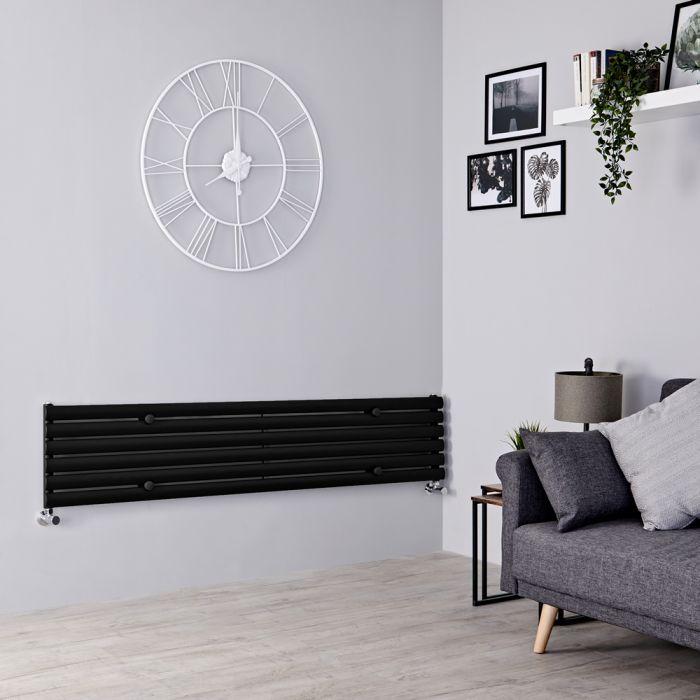 Milano Aruba - Black Horizontal Designer Radiator 354mm x 1780mm
