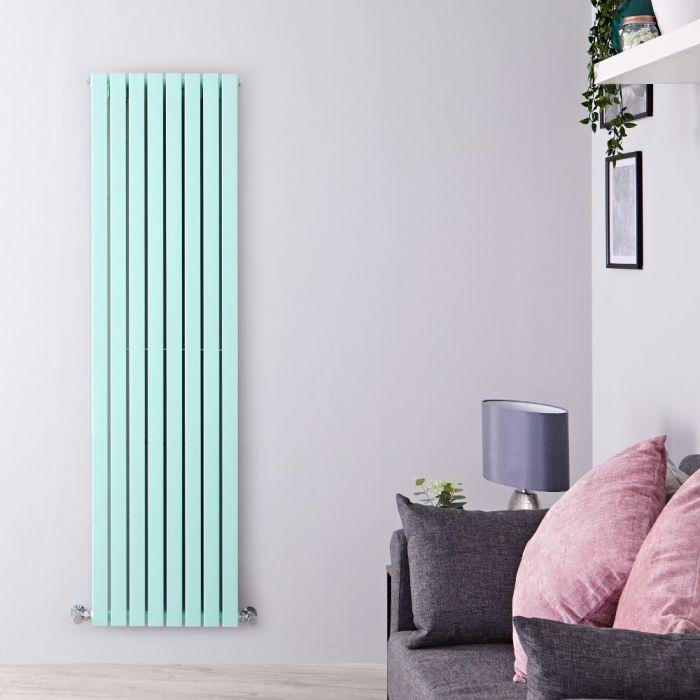 Milano Capri - Light Mint Green Flat Panel Vertical Designer Radiator - 1780mm x 472mm (Double Panel)