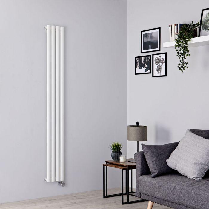 Milano Aruba Slim Electric - White Space-Saving Vertical Designer Radiator 1780mm x 236mm