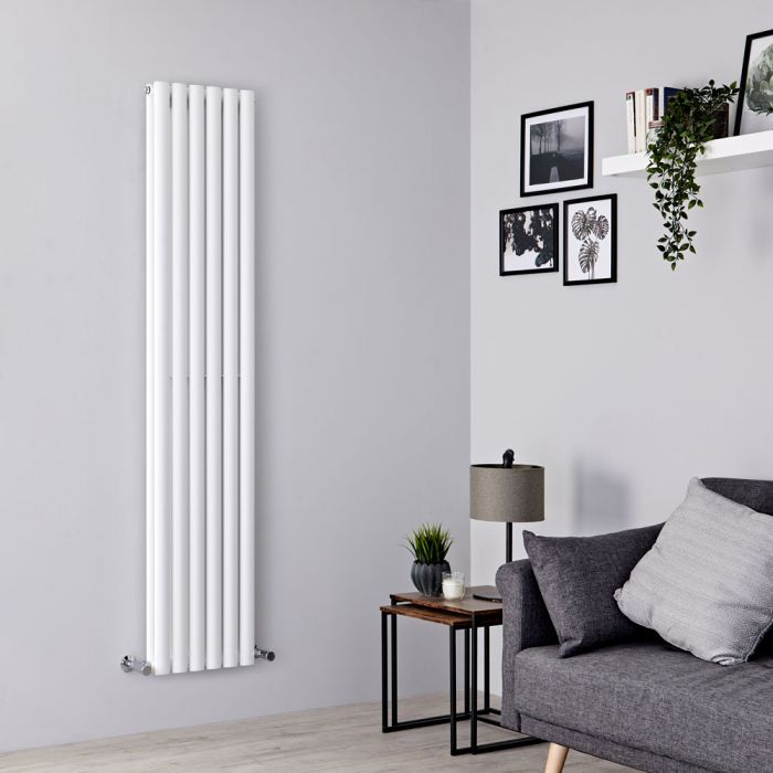 Milano Aruba - White Vertical Designer Radiator 1780mm x 354mm (Double Panel)