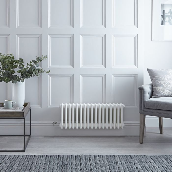 Milano Windsor - Traditional White 3 Column Electric Radiator 300mm x 785mm (Horizontal) - Choice of Wi-Fi Thermostat
