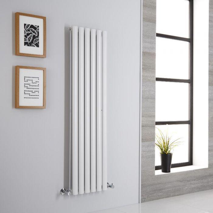 Milano Aruba - Modern White Vertical Designer Radiator 1400mm x 354mm (Single Panel)