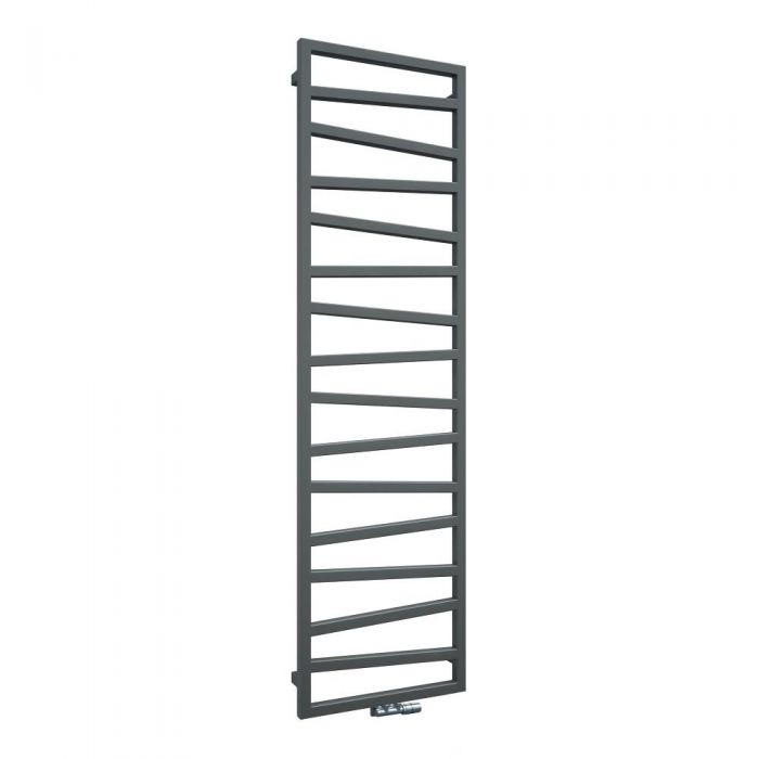Terma ZigZag - Silver Vertical Heated Towel Rail 1780mm x 500mm
