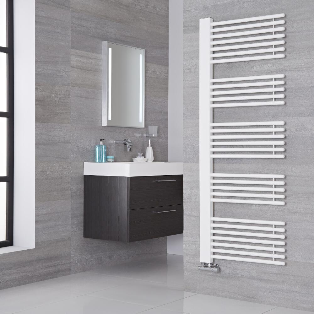 Lazzarini Way - Grado - Mineral White Designer Heated Towel Rail - 1600mm x 600mm