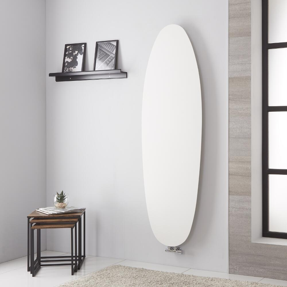 Lazzarini Way - Tavolara - Mineral White Vertical Designer Radiator - 1728mm x 535mm