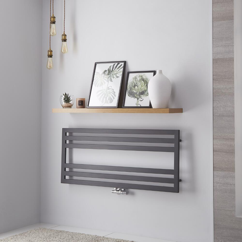 Lazzarini Way - Urbino - Anthracite Designer Heated Towel Rail - 500mm x 1200mm