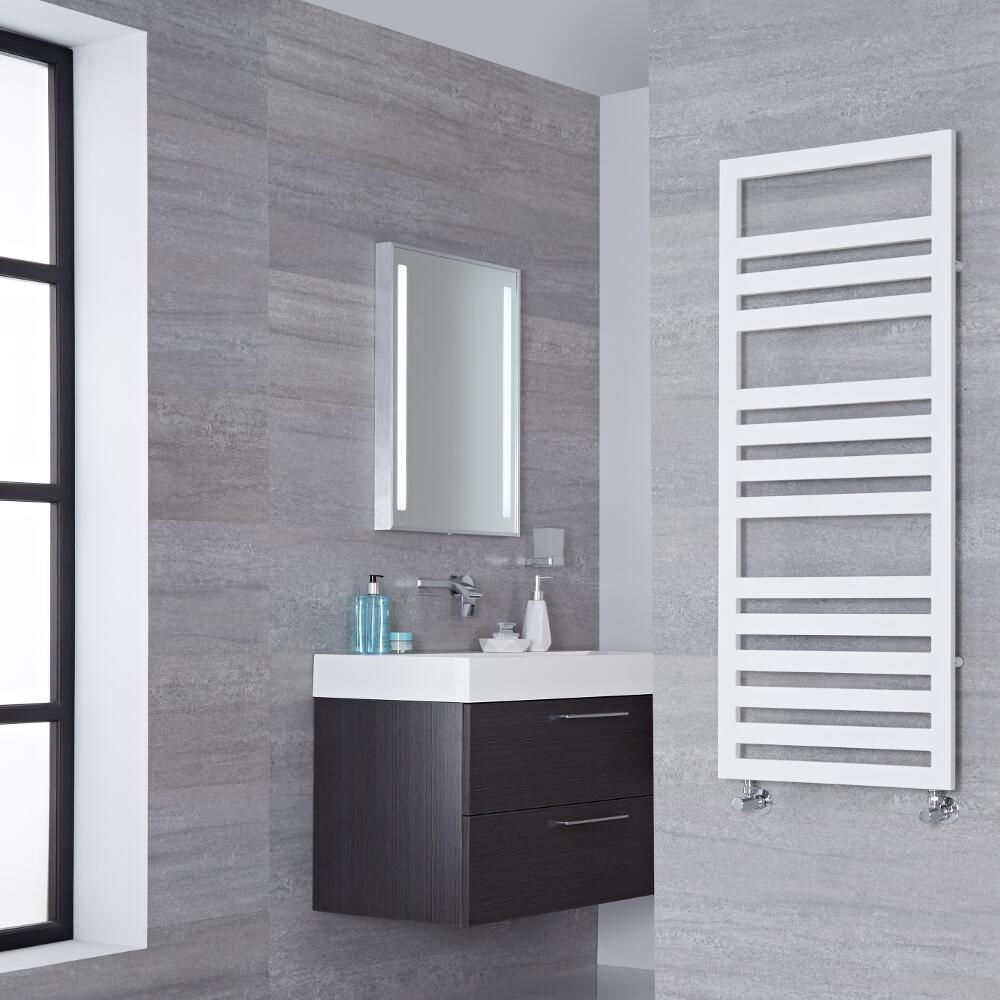 Lazzarini Way - Urbino - White Designer Heated Towel Rail - 1200mm x 500mm